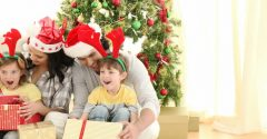 The Special Moment Of Giving Gifts At Christmas